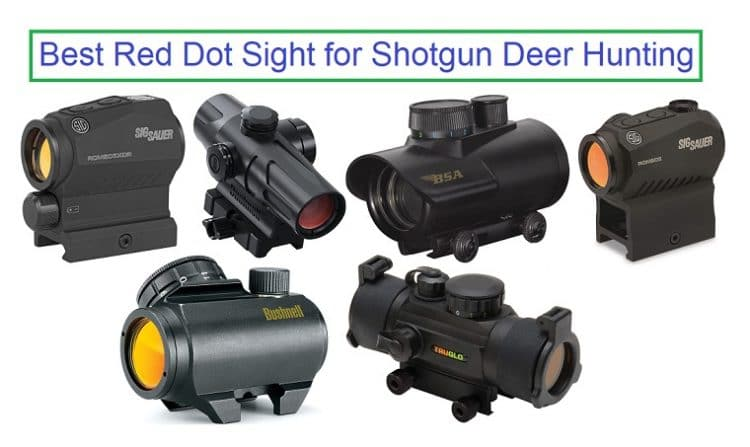 Best Red Dot Sight for Shotgun Deer Hunting